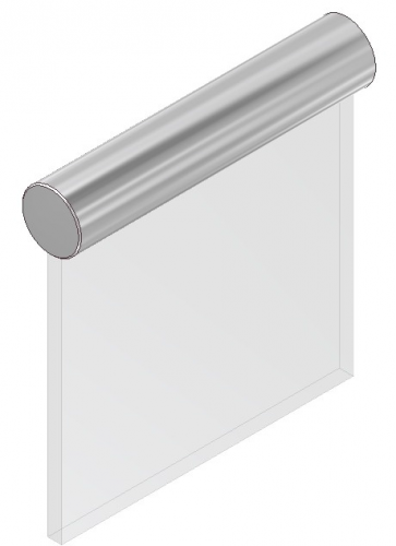 BY. HL 24 - Aluminium på glas