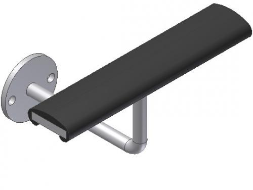 CA. 26 - Fladstål evt. med PVC - Væghængt